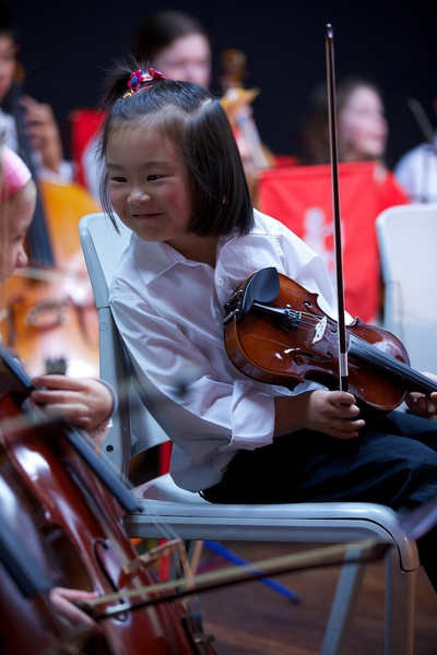 Brumby Orchestra violinist